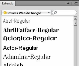 polices et fonts