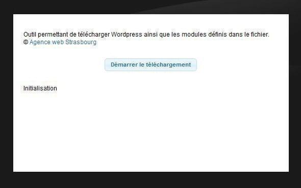 telecharger wordpress automatiquement
