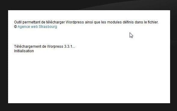 telecharger wordpress automatique
