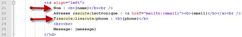 formulaire html