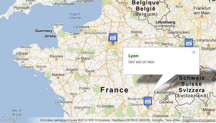 google maps plusieurs markers