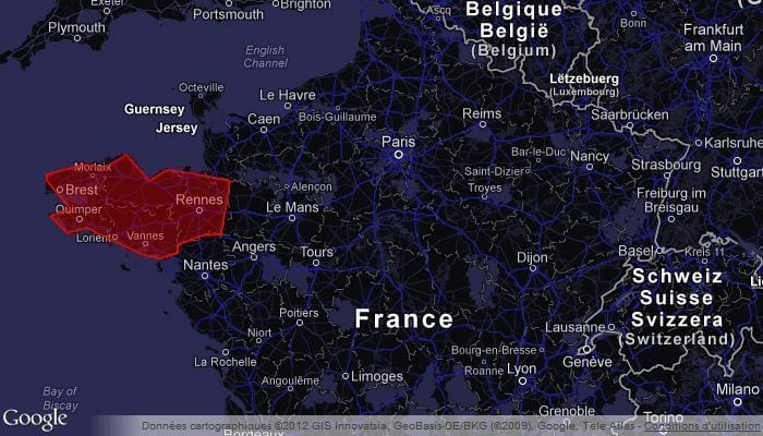google maps polygone couleur