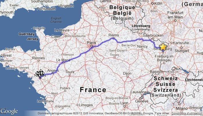 google maps trajet personnalisé