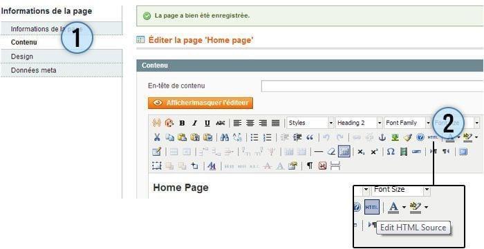 editer page magento