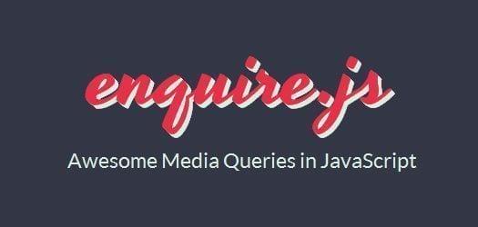 javascript framework media queries enquire js