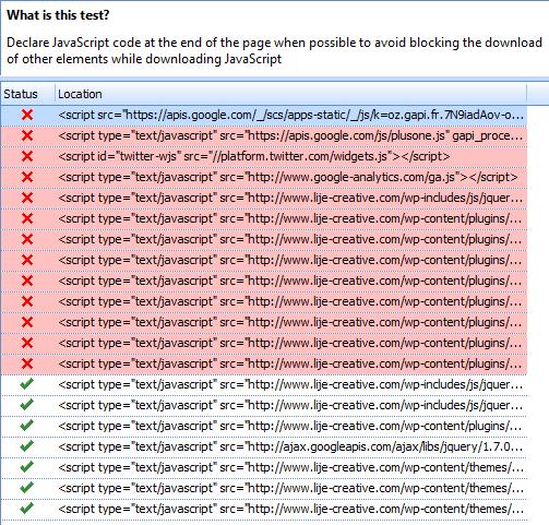 test javascript